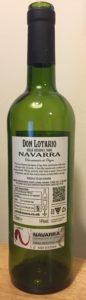 Don Lotario Navarra Gran Reserva 2009 Back